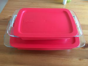 Pyrex 4 piece easy grab oblong baking dish set for Sale in Pittsburgh, PA