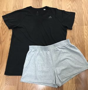 Ladies Women's Clothes Exercise Workout Adidas Shirt & Shorts Size XL for Sale in Spring, TX