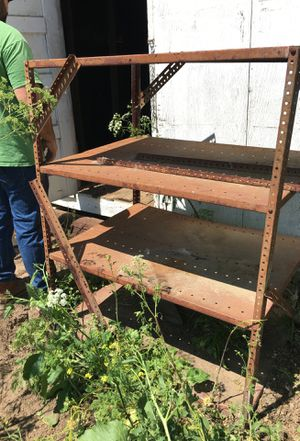 Free—- 2 metal shelves for Sale in Paso Robles, CA