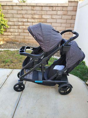 Graco Uno2duo Double stroller. Black n Grey Color. for Sale in Perris, CA