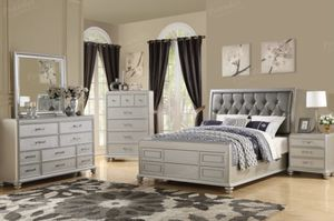 Brand New Silver Bedroom Set! for Sale in Tucson, AZ