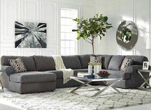 Ashley Jayceon 3-Piece RAF Sofa Sectional in Steel Fabric for Sale in Virginia Beach, VA