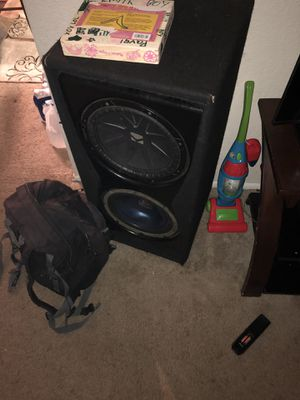 """Kicker 12"""" kenwood 12"""" & inferno bass 1400 watts for Sale in Silver Spring, MD"""