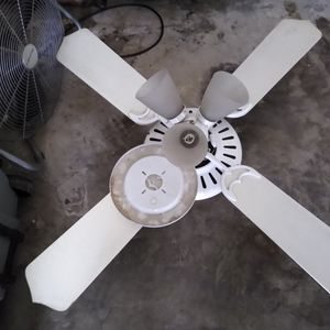 White Ceiling Fan / 4 Blades, 4lites / Free Free for Sale in Holly Hill, FL