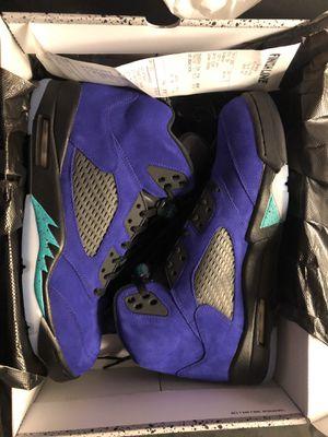 Retro Jordan grape 5s for Sale in Troy, MI