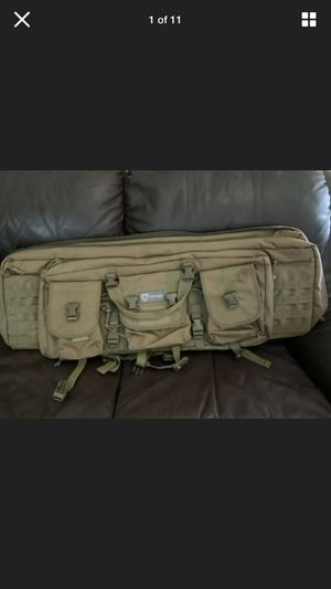 Tactical Weapon Gun Case Soft Double Rifle Polyester Range Padded Accessory for Sale in Sunnyvale, TX