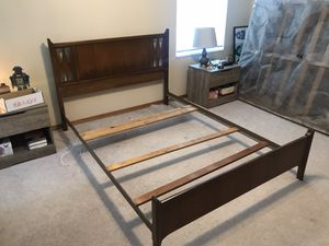Wooden, full-size, bed frame for Sale in Green Bay, WI