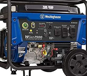 Westinghouse WGen7500 Portable Generator with Remote Electric Start 7500 Rated Watts & 9500 Peak Watts, Gas Powered, CARB Compliant, Transfer Switch R for Sale in Los Angeles,  CA