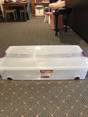 Two underbed storage containers with wheels for Sale in Eagleville, PA