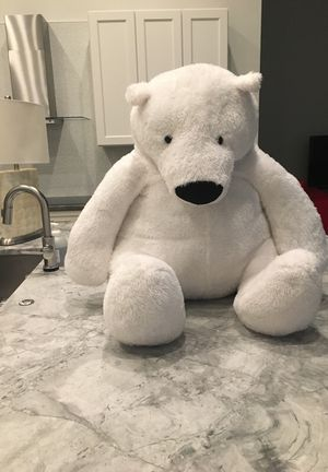 Stuffed toy polar bear extra large for Sale in West Palm Beach, FL