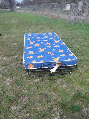 Twin Size Bed Frame with Mattress in good condition Smoke free & Pet free home 60. ( 19 w x 30 L x ) for Sale in Princeton, TX