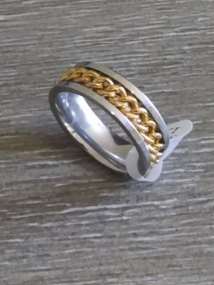 Silver gold chain stainless steel ring for Sale in Columbus, OH