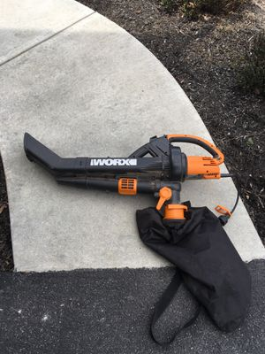 WORX electric leaf vac/blower for Sale in Dillsburg, PA