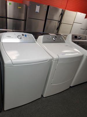 Whirlpool electric top load set washer and dryer in great condition for Sale in Randallstown, MD