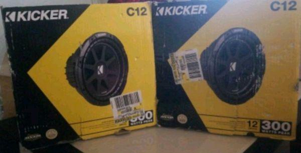 Kicker Subwoofers C12 300 watts