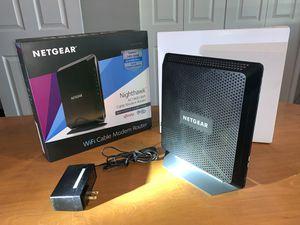 Netgear nighthawk C7000 AC1900 WiFi cable modem router for Sale in Phoenix, AZ