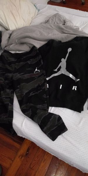 2 Pair Of Camo Jordan Sweat Pants 1 Top for Sale in Cleveland, OH