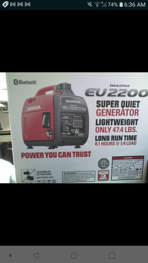 Honda eu2200 generator for Sale in Jacksonville, FL