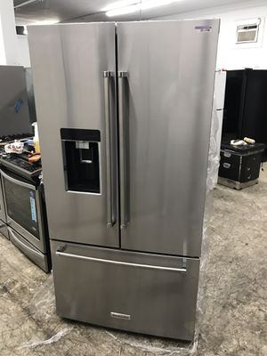Kitchen Aid stainless steel counter depth depth French door refrigerator for Sale in Los Angeles, CA