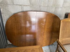 """Oval cherry Wood dining Table 60x40+18"""" Extension asking $100. Today for Sale in Boca Raton, FL"""