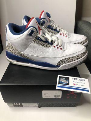 Nike air Jordan 3 true blue size 10 used for Sale in Bellevue, WA