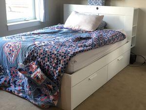 Ikea Brimnes bedframe and headboard - Queen for Sale in Somerville, MA