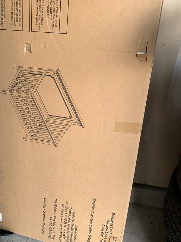 New in box never open 5 in 1 baby cribs