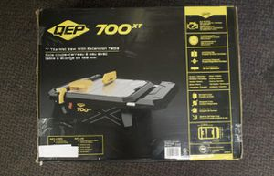QEP 700XT 3/4 HP Wet Tile Saw with 7 in. Blade and Table Extension for Sale in Duncan, SC