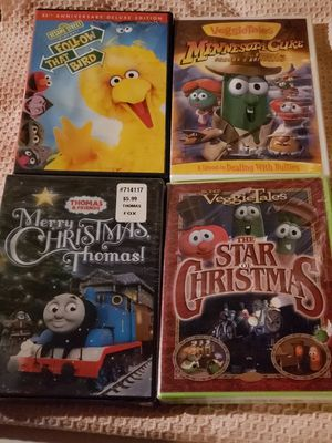 4, Kids DVD's..2 are NEW & Sealed Christmas for Sale in Cheektowaga, NY
