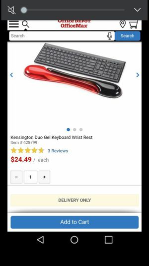 Gel keyboard Wrist rest (2) for Sale in Kent, WA