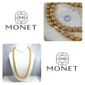 Monet Necklace signed on clasp closure for Sale in Wake Forest, NC
