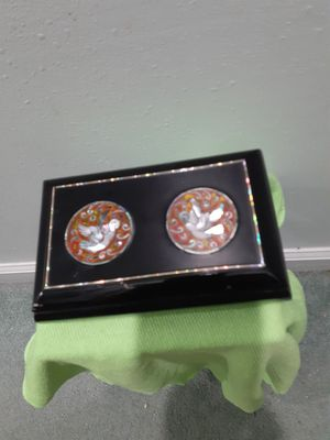 Really nice embellished black lacquer box for Sale in Dunedin, FL