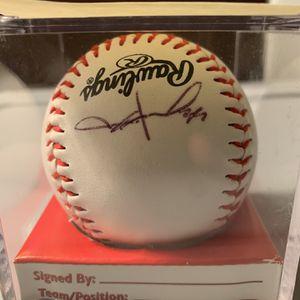 Jason Hammel Autographed Official League Baseball for Sale in Roseville, MI
