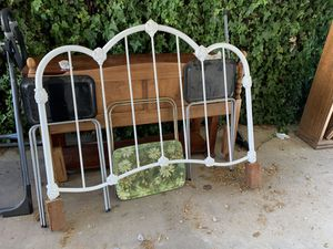 Antique metal floral full sized headboard for Sale in Jackson, CA