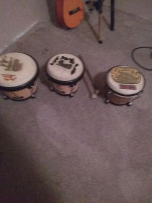 Bongos 3 peice set 80 dollars or trade for drum for Sale in Oxford, NC