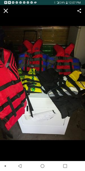 2 large adult life jackets for Sale in Aurora, CO