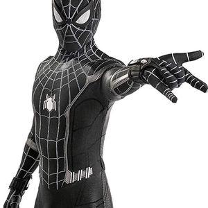 Lotusuncostume Black Superhero Bodysuit Spandex Zentai Suits Halloween Cosplay Costume for Sale in Glendale, AZ