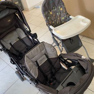 70$ Combo ( Seat Cosco + Baby Trend Twin Stroller ) ASAP for Sale in Miami, FL