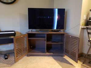 TV stand (walnut finish) for Sale in Seattle, WA