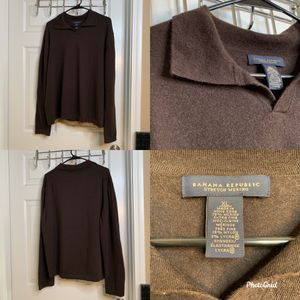 Banana Republic Mens XL 78% Stretch Merino Extra Fine Wool Longsleeve Sweater for Sale in Bedford, TX
