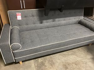 SPL Sofa Bed / Futon with Pillows, Gray for Sale in Downey, CA
