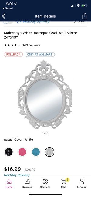Decorative Mirror, Baroque Oval mirror, silver for Sale in Long Beach, CA