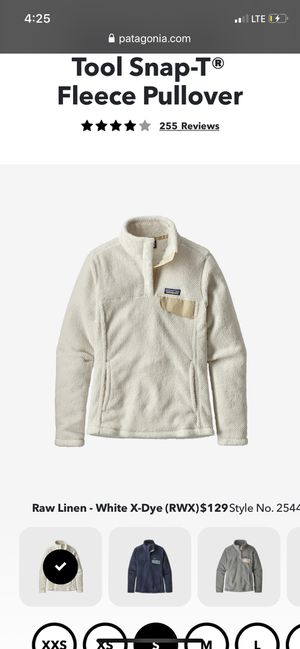 White linen fleece Patagonia size L for Sale in Dunn, NC