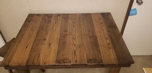 Handmade solid oak table for Sale in Roman Forest, TX