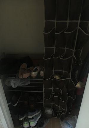 Shoe racks, vacuum, hangars, utensils for Sale in Arlington, VA