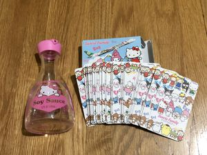 Collectible Hello Kitty glass bottle and poker cards for Sale in Los Angeles, CA