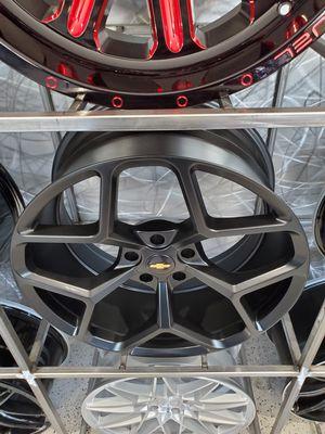 20x9 and 20x10 satin black Camaro wheels firs 2010-2019 wheel tire rim shop for Sale in Tempe, AZ