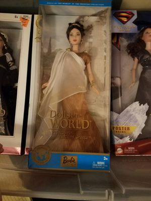 Dolls of the world barbie princess of ancient greece for Sale in Alexandria, VA