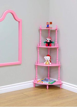 Brand New (Unboxed) Pink Vintage Style Corner Shelf for Sale in Portland, OR