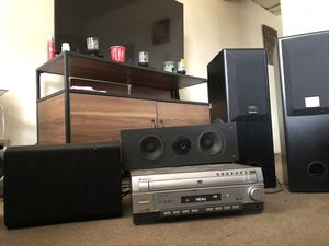 Pioneer DVD/CD 5 Disk changer with Ridiculously loud speakers with subWoofer for Sale in Swissvale, PA